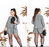 Костюм-двойка состоит из короткой кофты и шортиков №41211-серый, фото 2