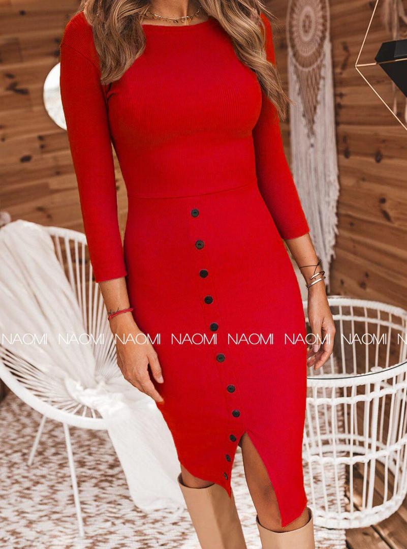 Платье женское, до колена, повседневное, стильное, трикотаж рибана, удобное, офисное, модное, до 48 р