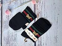 Жіночі шкарпетки Magnetis чорні з полосками та метеликом, фото 1