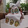 Маленький рушник для пасхальной корзины для вышивки бисером с обработанными краями - МР - 2, фото 2
