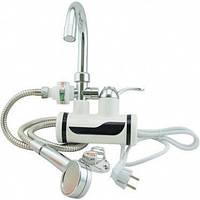 Проточный водонагреватель с душем Delimano 3000 Вт на кран подключение боковое