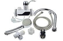 Проточный водонагреватель с душем Delimano (боковое подключение) В подарок Water saver, фото 2