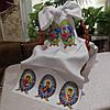 Маленький рушник для пасхальной корзины для вышивки бисером с обработанными краями - МР - 4, фото 2