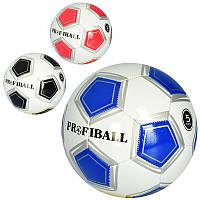 Мяч футбольный EV 3306, размер 5, ПВХ 1,8мм, 32панели, 300-320г, 3 цвета