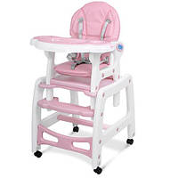Детский стульчик-трансформер для кормления Bambi M 1563 розовый