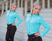 Женская  рубашка с воротником