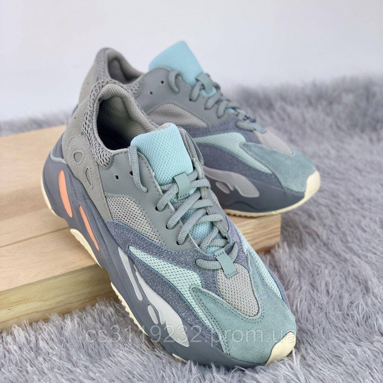 Женские кроссовки Adidas Yeezy Boost 700 Inertia (серые)
