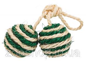 2 мяча на верёвке для кошки Trixie