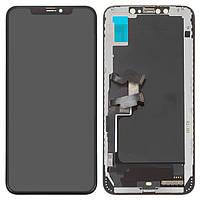Дисплей для iPhone XS Max, модуль в сборе (экран и сенсор), с рамкой, черный, TFT, AAA (Tianma)