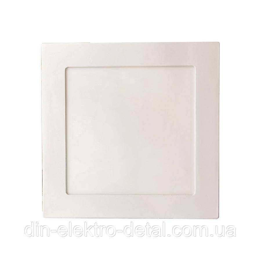 Светильник точечный врезной ЕВРОСВЕТ 9Вт квадрат LED-S-150-9 6400К