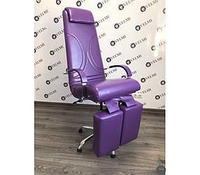 Кресло педикюрное Aramis Lux кожзаменитель Rainbow Purple (Velmi TM)