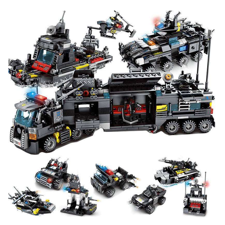 Развивающий конструктор Городская полиция, спецназ 695 шт совместим с Lego