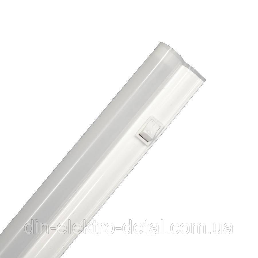 Светильник светодиодный интегрированный ЕВРОСВЕТ 9Вт 6400K EV-IT-600-6400 Т5 720Лм с выключателем