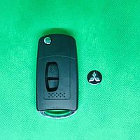 Корпус ключ  выкидного авто ключа для переделки MITSUBISHI (Митсубиси) 2- кнопки