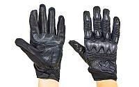 Мотоперчатки кожаные FOX  размер L-M черный