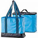 2 в 1 - термосумка + сумка-чохол КЕМПІНГ Ultra (17р), блакитний/чорний, фото 2