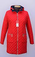Женская,стёганная,демисезонная куртка больших размеров.Новинка!