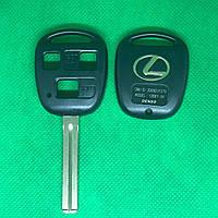 Корпус авто ключа LEXUS (Лексус) 3 - кнопки, лезвие TOY48