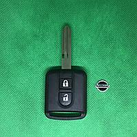 Корпус авто ключ для Nissan (Ниссан) Кашкай, Микра, Ноут, Мурано, Патфайндер, Навара 2 - кнопки, лезвие NSN14
