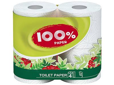 """Папір туалетний """"Ruta""""100% Paper білий 4рул."""