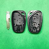 Корпус авто ключа для Nissan Primastar (Ніссан Примастар) 2 - кнопки, лезо NE73, фото 2