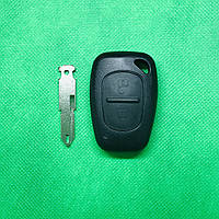 Корпус авто ключа для Nissan Primastar (Ниссан Примастар) 2 - кнопки, лезвие NE73