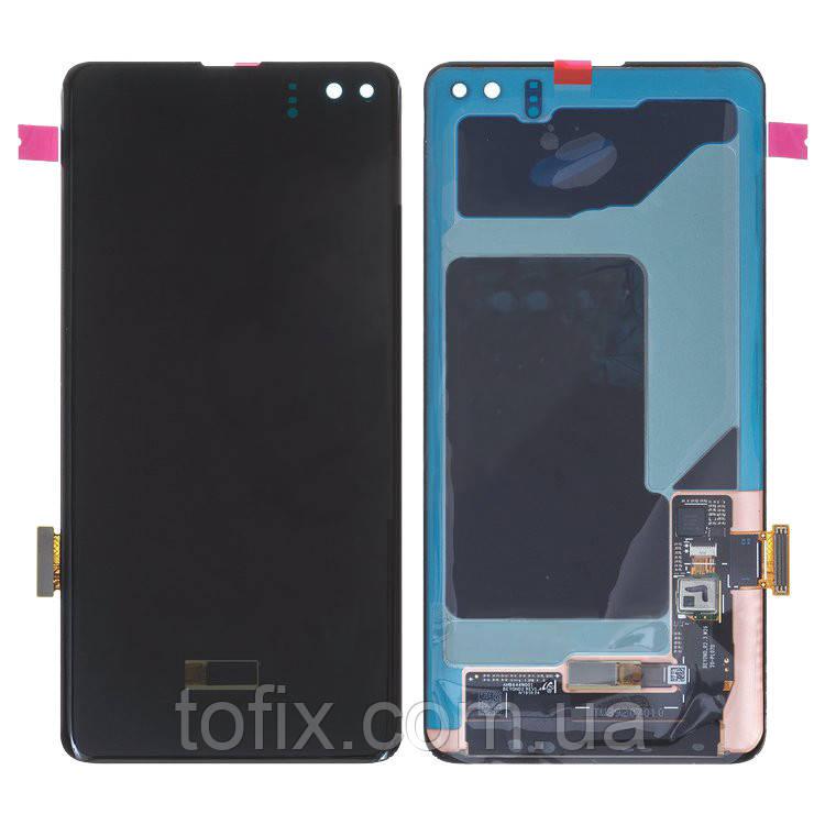 Дисплей для Samsung G975 Galaxy S10 Plus (2019), модуль в зборі (екран і сенсор), черный, оригінал