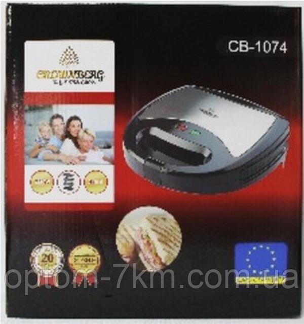 Вафельница-гриль-орешница-бутербродница 4в1 Crownberg CB 1074 am