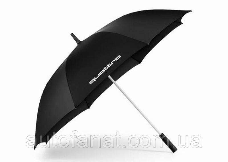 Оригинальный зонт-трость Audi Quattro, Black (3121600100)