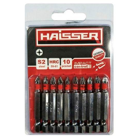 Набір біт 40 х 50 мм, 10 шт, HEX Haisser (81356)