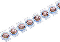 "Кристаллы Сваровски для текстиля на ленте SS10  2,8 мм ""Knorr Prandell"" , цвет светло-розовый."