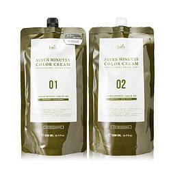 7 Минутная краска для волос Lador Натуральный каштановый 7 Perfect Cover Up #Natural Brown