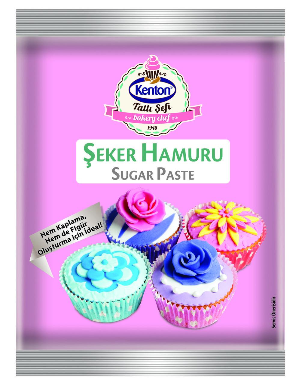 Сахарная Мастика розового цвета 400 г. Kenton