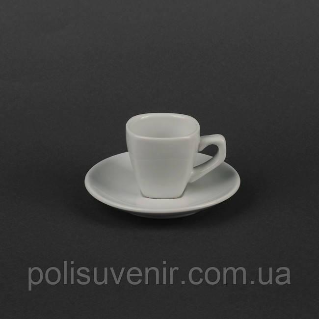 Набір кавовий 2 предмета: чашка 70 мл + блюдце