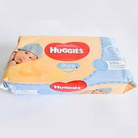 Детские влажные салфетки Huggies Pure Natural Single, 56 шт