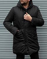 Куртка мужская черная. Мужская куртка-пальто. ТОП КАЧЕСТВО!!!