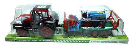 Трактор великий інерційний, 0488-192, рухливі деталі, в слюді 83х22х24см