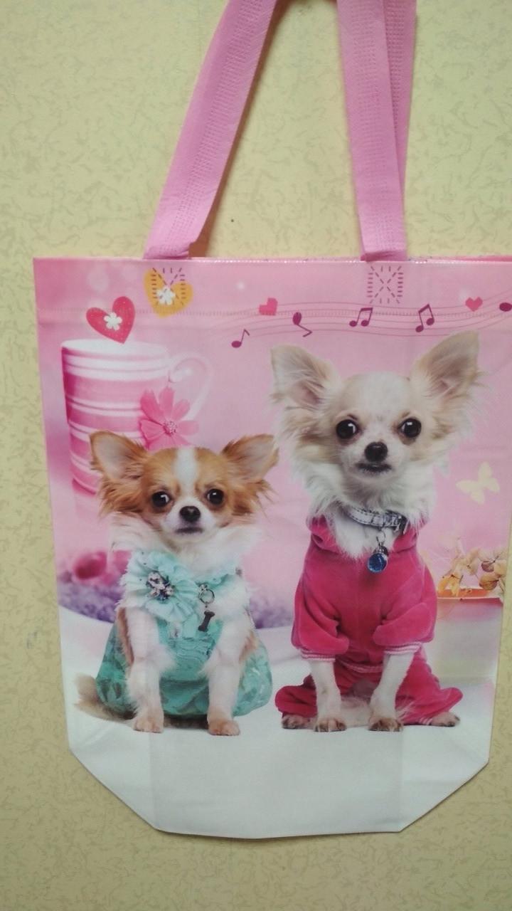 Эко-сумка с ручками ''Собака '', 31*42*12 см