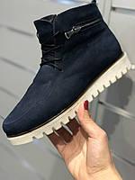 Женские зимние ботинки замш street style 37 40размеры, фото 1
