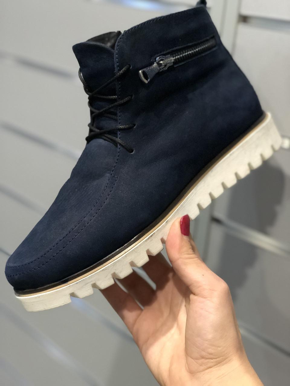 Женские зимние ботинки замш street style 37 40размеры