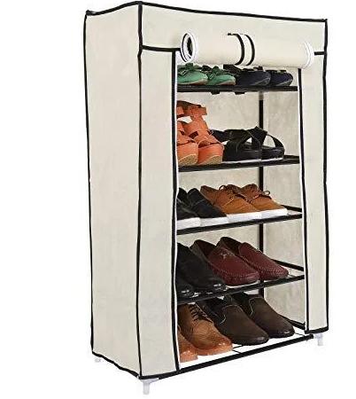 Компактний тканинний шафа для взуття