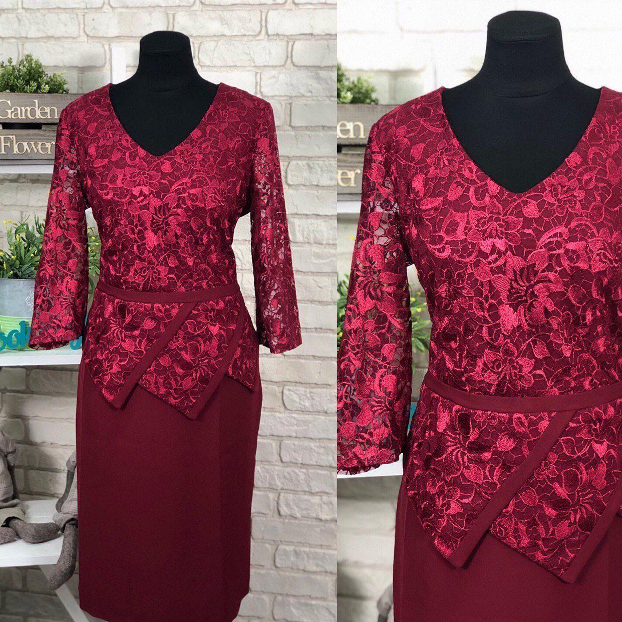 """Стильное  женское платье с цветочной вышивкой из органзы ткань """"Костюмная"""" 48 размер батал"""
