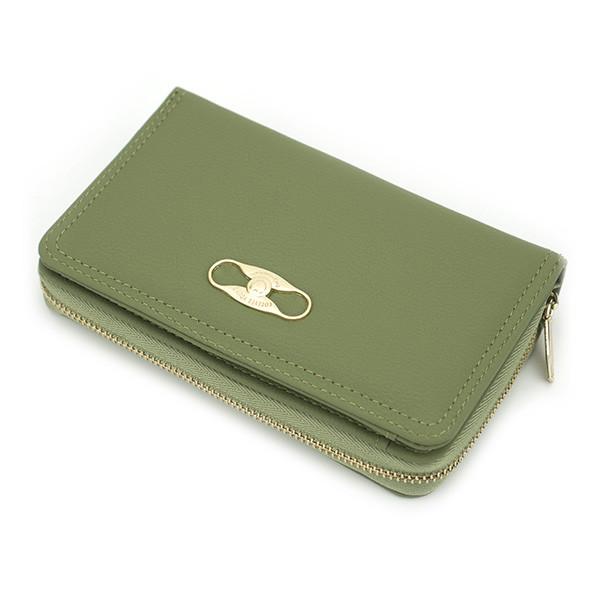 Женский Кошелек Бумажник на Молнии для Карточек Weichen (С5718-34B) Зеленый