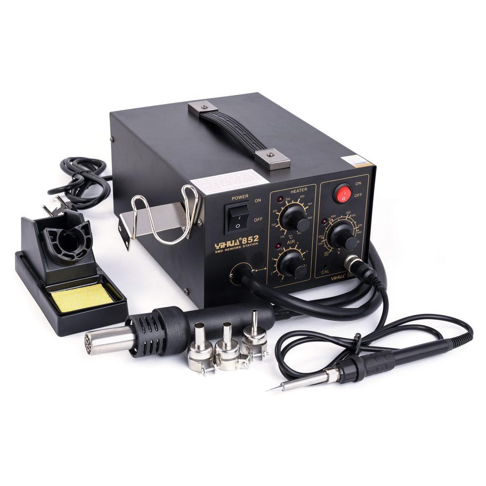 Паяльная станция 2в1 YIHUA 852 (паяльник+компрессорный фен)