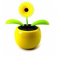 Цветок танцующий на солнечной батарее (Flip Flap) (10х11х7см)