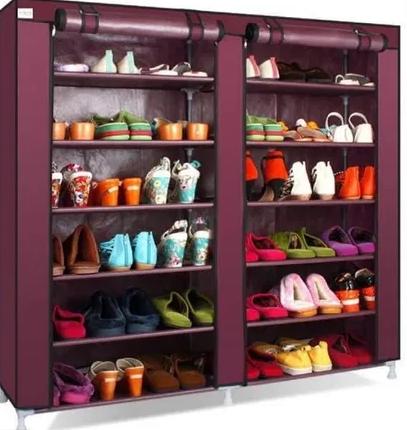 Компактний тканинний шафа для взуття та одягу