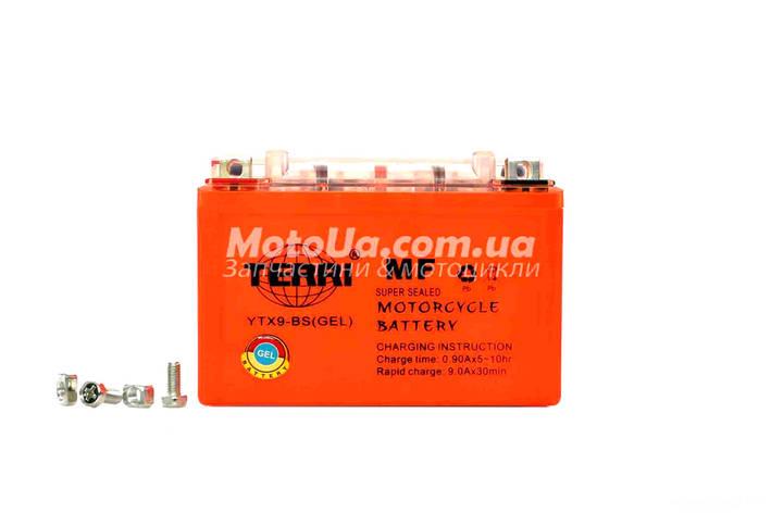 Акумулятор 9A 12V (YTX9-BS) OUTDO гелевий 150x87x107 TERRI, фото 2