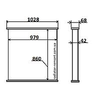 Соты радиатора SCANIA Seria 5 (04-)