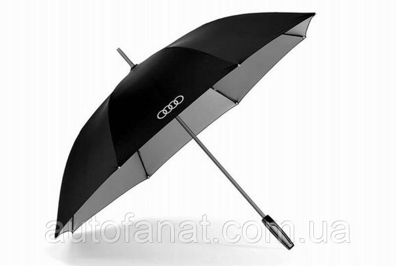 Оригинальный зонт-трость Audi Stick Umbrella, big, Black/Titan (3121500100)