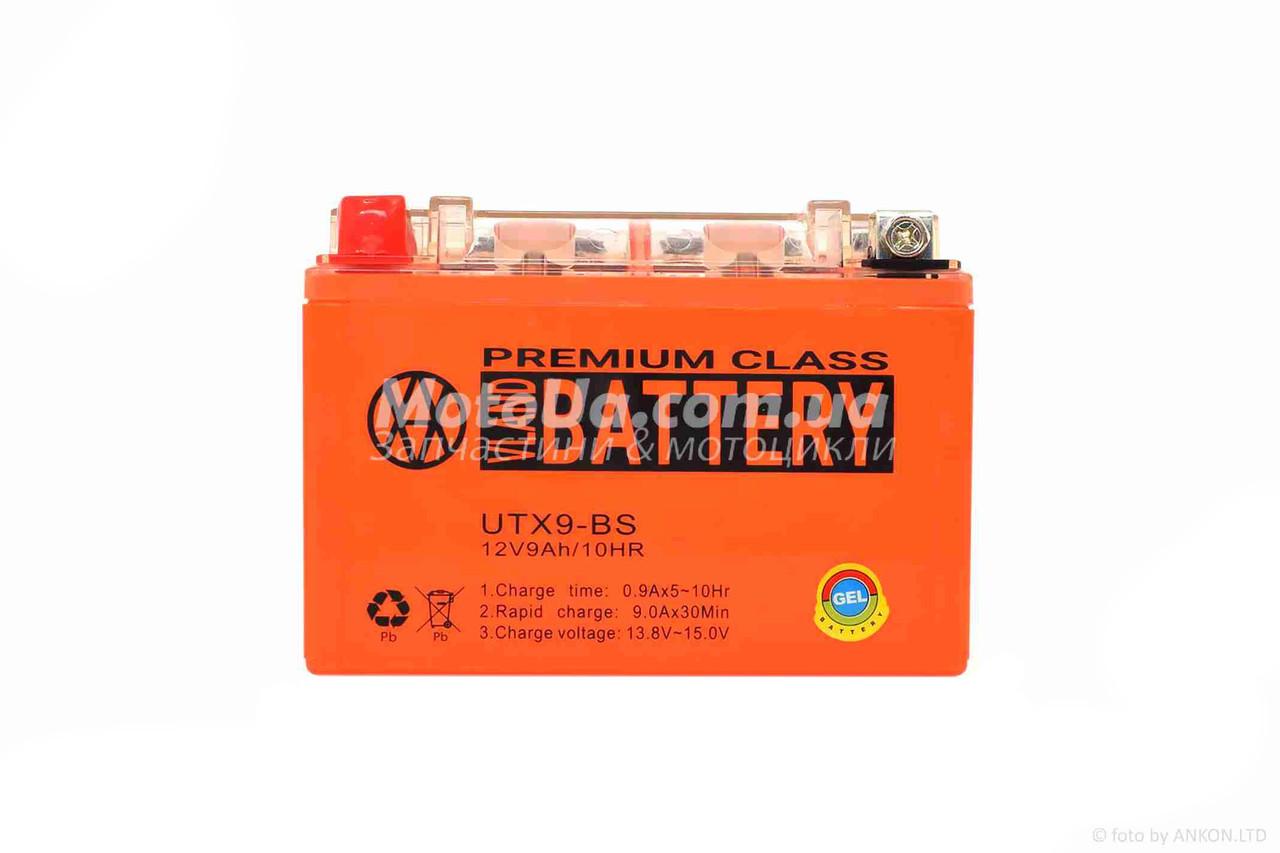 Аккумулятор 9A 12V (YTX9-BS) гелевий 150x87x107 VLAND